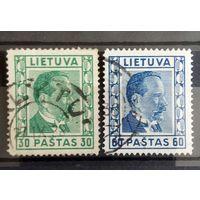 Литва 2 старенькие марочки стандарт 1938