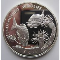 Папуа Новая Гвинея. 5 кина 1997. Рыбы. Серебро (15)