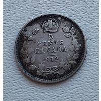 Канада 5 центов, 1912  7-6-48
