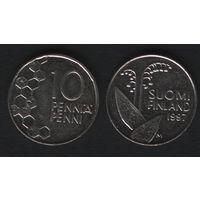 Финляндия km65 10 пенни 1997 год (M) (f31)*