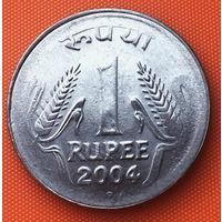 04-13 Индия, 1 рупия 2004 г. Ноида