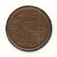 Люксембург 25 сантимов 1946 г.