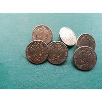 Пуговицы с изображкнием монет
