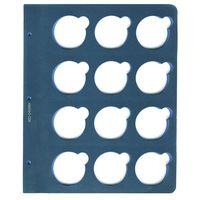Лист для монет в капсулах диаметром 45 мм (синий)