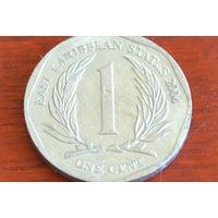 Карибы 1 цент 2004