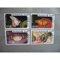 Буркина Фасо. Первая серия с новым названием страны. Бабочки. 1984 г. к.ц.-6.5 евро.