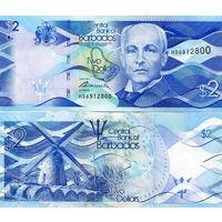 Барбадос 2 доллара  2016 год  UNC