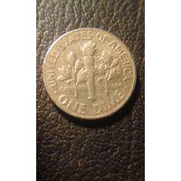 10 центов  \дайм\ 1969 d США
