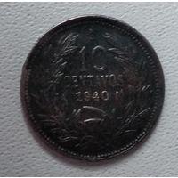 Чили 10 сентаво, 1940 6-3-23