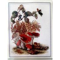Набор для вышивки крестом. Мухоморы. Марья Искусница / B528