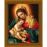 Набор для вышивки крестом. Мадонна с младенцем. KUSTOM KRAFTS  / 18047