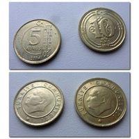 5 и 10 куруш 2013 и 2014 года Турция(цена за 2 шт) - из коллекции