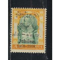 Сиам Таиланд 1908 40 летик правления Рамы V Чулалонгкорна Надп Стандарт #68*