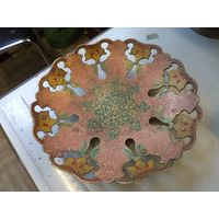 Фруктовница латунная в эмалях