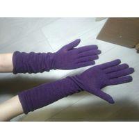 Перчатки высокие (текстиль, фиолетовые)