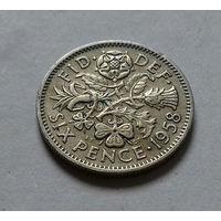 6 пенсов, Великобритания 1958 г.