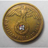 Третий рейх. 10 рейхспфеннигов 1938 D.   2-144