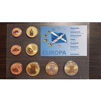 Пробный Евро Набор-1 Цент-2 Евро-Шотландия-2008-АЦ+сертификат