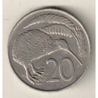Новая Зеландия 20 цент 1967