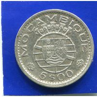 Мозамбик 5 эскудо 1960 , серебро