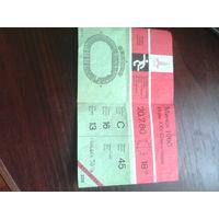 В коллекцию,Билет СССР на футбол Олимпиада 80 Минск1980 год