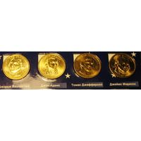 """1 доллар США """"Президенты""""Вашингтон, Адамс, Мэдисон"""
