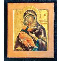 Икона Владимирская Пресвятая Богородица. Москва, XIX век