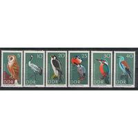 ГДР Птицы 1967 год чистая полная серия из 6-ти марок