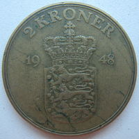 Дания 2 кроны 1948 г.