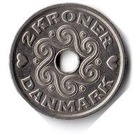 Дания. 2 кроны. 2005 г. Единственное предложение данного года на АУ