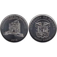 Панама 1/2 бальбоа 2018 Монастырь Сан-Франциско, Панама-Вьехо UNC