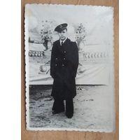 Фото военного моряка. Конец 1940-х. 8х11.5 см