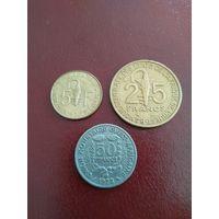 Западно-Африканские государства набор 3 монеты