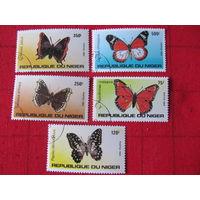 Нигер. 1983. Бабочки. Сер. 5 м.