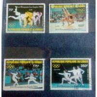 Конго 1984 Спорт ХХIII Олимпийские игры Лос-Анджелес 1984 дзюдо борьба фехтование