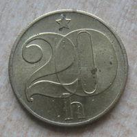 Чехословакия 20 геллеров 1982 год