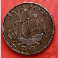 16-11 Великобритания, 1/2 пенни 1950 г.