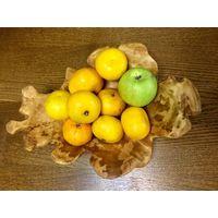Ваза для фруктов деревянная, Фруктовница. Сувель березы. Ручная работа