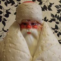 Дед Мороз  на подставке 65 см 1984 г