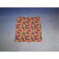 Трикотажная хлопковая юбочка в цветочный принт, р.L