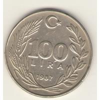 100 лир 1987 г.
