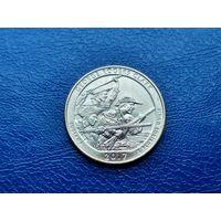 США. 25 центов (квотер, 1/4 доллара) 2017 D. Национальный исторический парк имени Джорджа Роджерса Кларка.