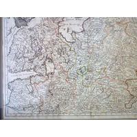 Старинная карта России 1780-е годы