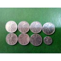 Сборный лот Италия 50 лир   8 шт  погодовка без повторов
