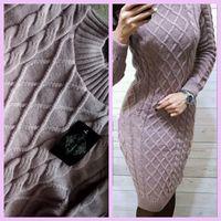 Новое вязаное платье 44-48