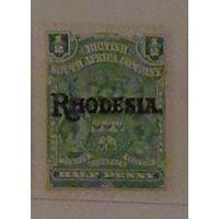 Британская Южно- Африканская компания.  Родезия.  Колония.. Дата выпуска: 1909-04-15