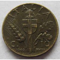Италия 10 чентезимо 1940