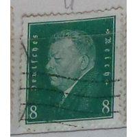 Первый президент Германии Фридрих Эберт. Германский Рейх.  Дата выпуска:1928-09-01