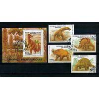 Мадагаскар 1988г. доисторические животные. 4м. 1 блок.
