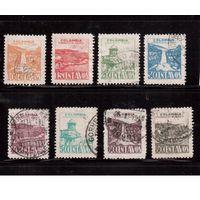 Колумбия-1945  (Мих.467-) ,  гаш , 8 марок, Природа, Архитектура